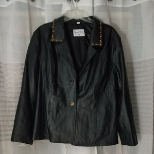 100% Leather Jacket By Pamela McCoy